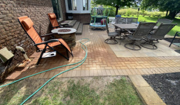 Rust Stain Removal On Exterior Brick Pavers
