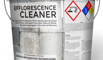 Efflorescence Cleaner For Brick Pavers, Concrete, Stamped Colored Concrete, Exposed Aggregate, Stone & Brick Masonry Surfaces