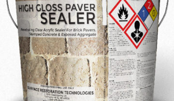 High Gloss Clear Wet Look Solvent Base Acrylic Sealer For Brick Pavers, Stamped Colored Concrete & Exposed Aggregate