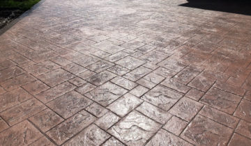 Stamped Colored Concrete Cleaning & Sealing In Oakland County Michigan