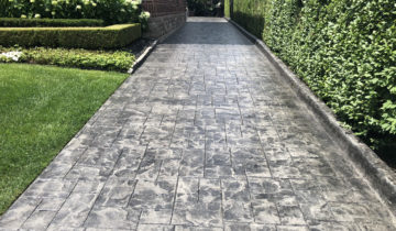 Benefits of Stamped Colored Concrete Pressure Washing & Sealing in Oakland & Macomb County Michigan